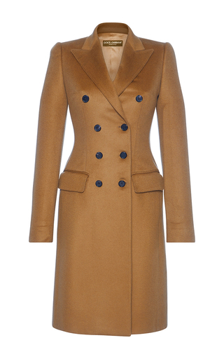 Medium dolce gabbana tan double breasted coat