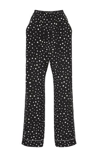 Medium dolce gabbana black white polka dot trousers