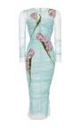 Tulip Printed Bodycon Dress by DOLCE & GABBANA Now Available on Moda Operandi