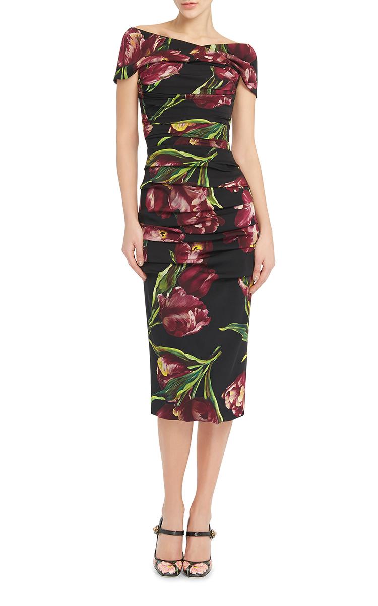 274763d0 Floral Printed Bodycon Dress by Dolce & Gabbana | Moda Operandi