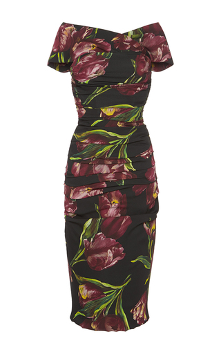 Medium dolce gabbana floral floral printed bodycon dress