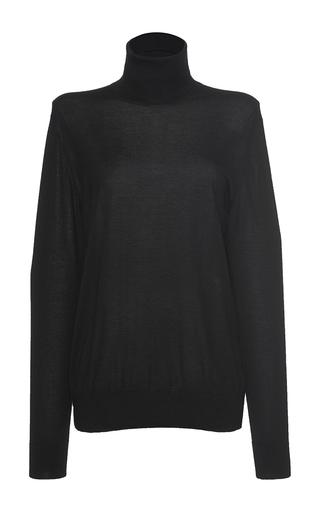 Medium dolce gabbana black oversized turtleneck sweater