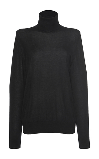Medium dolce gabbana black oversized turtleneck sweater