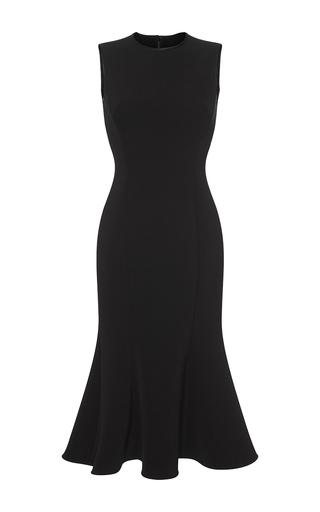 Medium dolce gabbana black flared midi dress