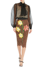 Lace Pencil Skirt  by DOLCE & GABBANA Now Available on Moda Operandi