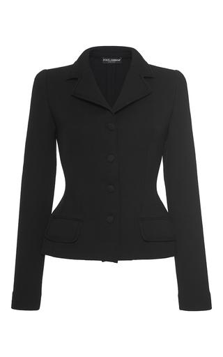 Medium dolce gabbana black fitted jacket