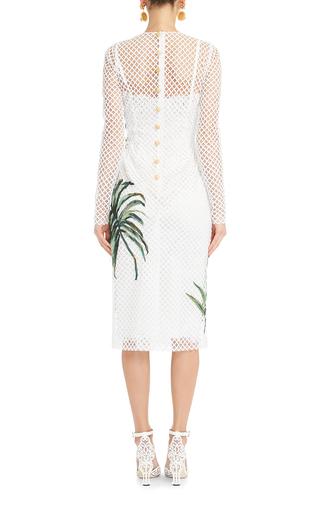 Palm Leaf Mesh Dress by DOLCE & GABBANA Now Available on Moda Operandi