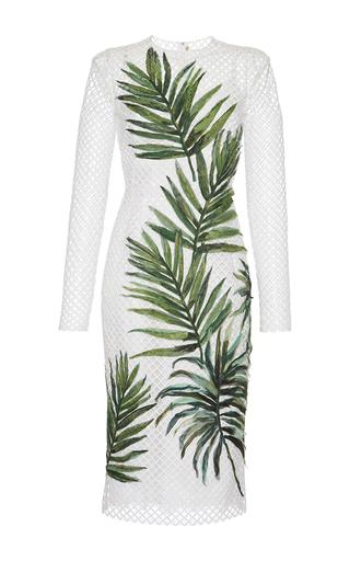 Medium dolce gabbana white palm leaf mesh dress