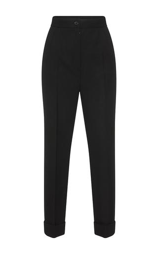 Medium dolce gabbana black cropped wool trousers