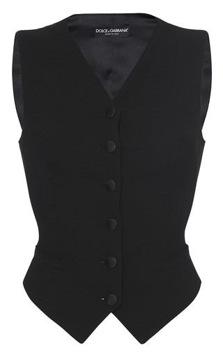 Medium dolce gabbana black tailored suit vest