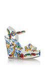 Maiolica Tile Platform Heels by DOLCE & GABBANA Now Available on Moda Operandi
