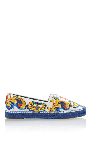 Maiolica Tile Espadrilles by DOLCE & GABBANA Now Available on Moda Operandi