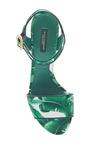 Palm And Raffia Block Heels by DOLCE & GABBANA Now Available on Moda Operandi