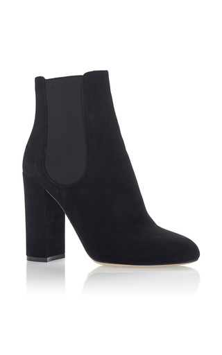 Medium dolce gabbana black suede ankle boots
