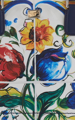 Maiolica Tile Leather Shopper  by DOLCE & GABBANA Now Available on Moda Operandi