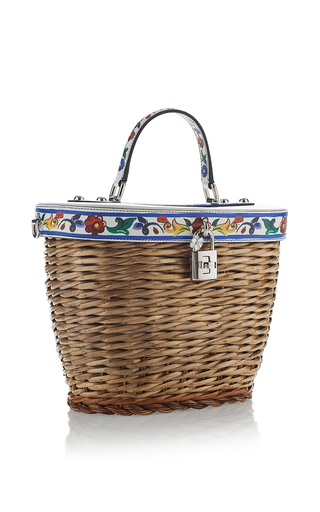 Printed Tile Wicker Bag  by DOLCE & GABBANA Now Available on Moda Operandi