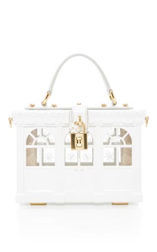 Medium dolce gabbana white trellis top handle bag