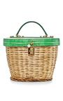 Banana Leaf Printed Basket Bag  by DOLCE & GABBANA Now Available on Moda Operandi