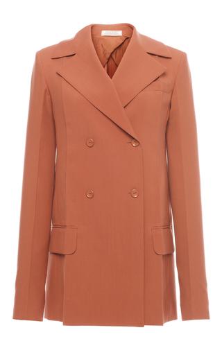 Medium nina ricci tan double breasted wool blazer