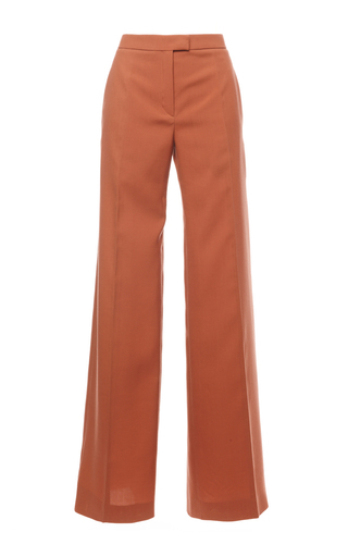 Medium nina ricci tan wool wide leg pants