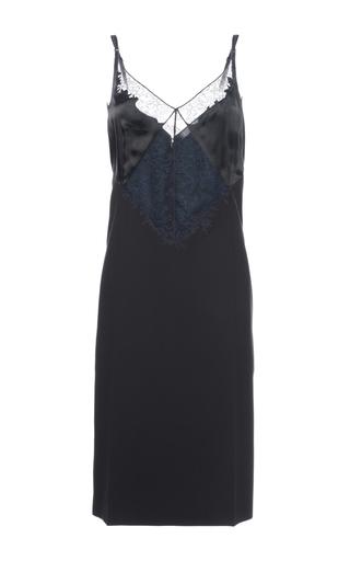 Medium nina ricci black organdy hand wool dress