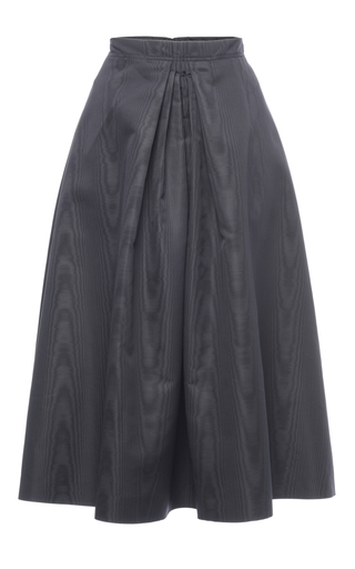 Medium nina ricci dark grey coated moire faille skirt