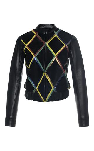 Medium marco de vincenzo multi diamond pattern nappa leather jacket
