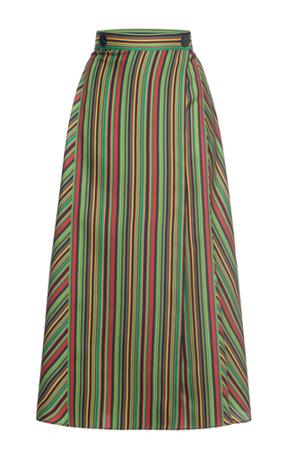 Medium marco de vincenzo multi silk a line skirt