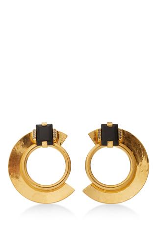 Medium marni black metal and stone earrings