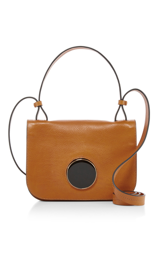 Medium marni neutral circle closure shoulder bag