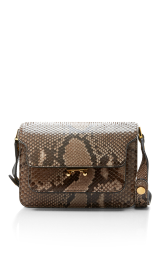 Medium marni animal python trunk bag