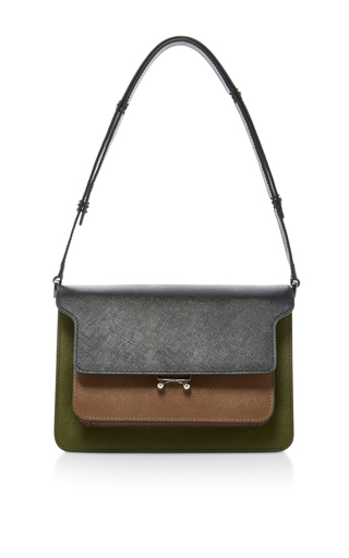 Two Toned Shoulder Bag  by MARNI Now Available on Moda Operandi