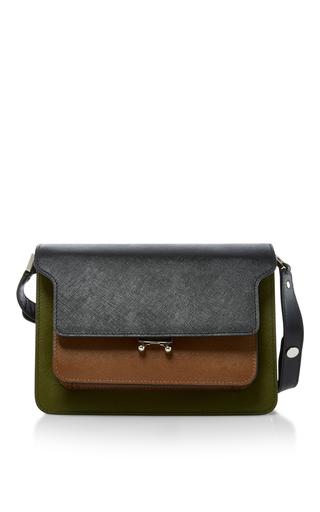 Medium marni brown two toned shoulder bag