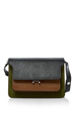 Medium marni brown two toned shoulder bag