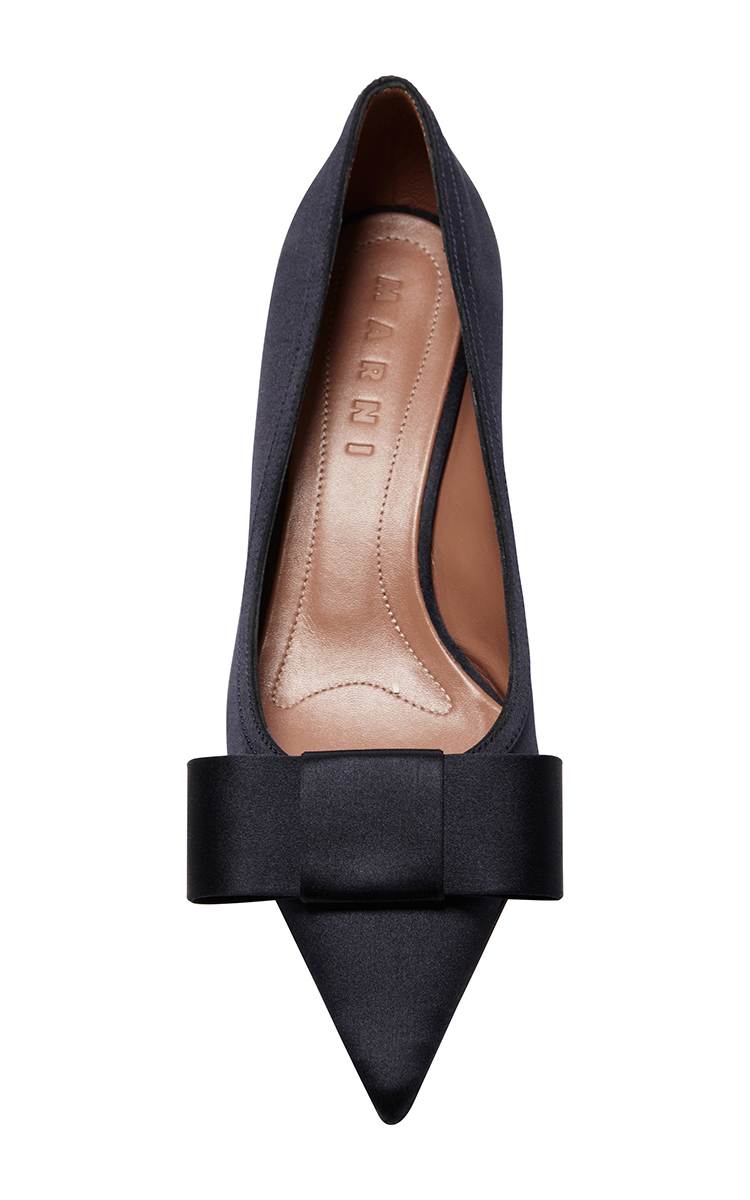 cheap amazon Marni Bow Suede pumps outlet how much wgnpyivPW2