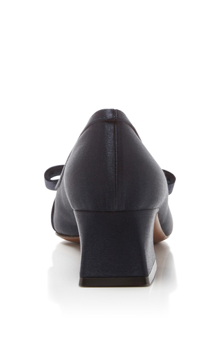 Silk Satin Bow Pumps by MARNI Now Available on Moda Operandi