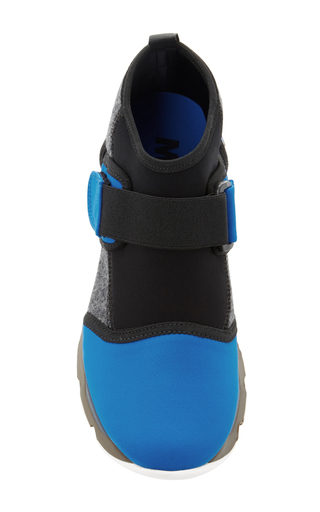 Neoprene High Top Sneakers by MARNI Now Available on Moda Operandi