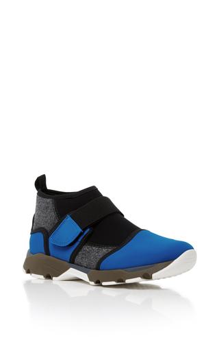 Medium marni blue neoprene high top sneakers