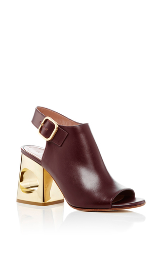 Medium marni burgundy sling back circle heels