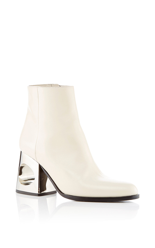 Medium marni ivory circle heeled ankle boots