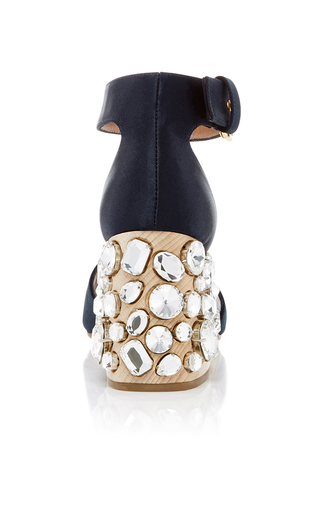 Crystal Heeled Sandals by MARNI Now Available on Moda Operandi