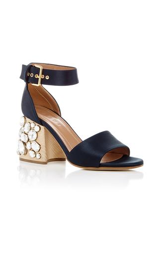 Medium marni navy crystal heeled sandals