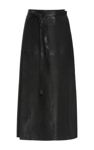 Medium isabel marant black candy leather wrap skirt