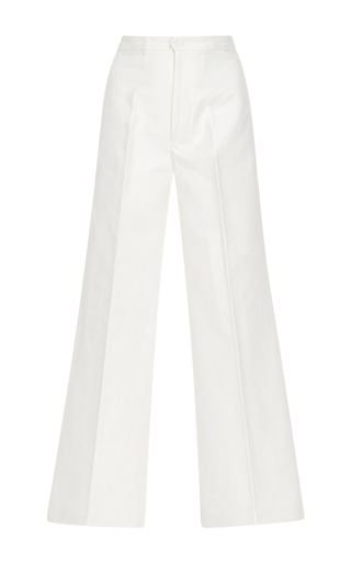 Medium isabel marant white steve wide leg trousers