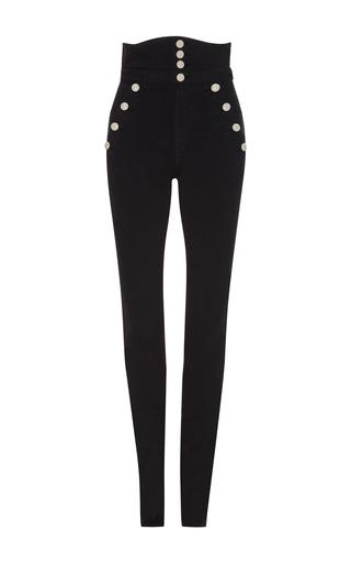 Medium isabel marant black marvin high waist trousers