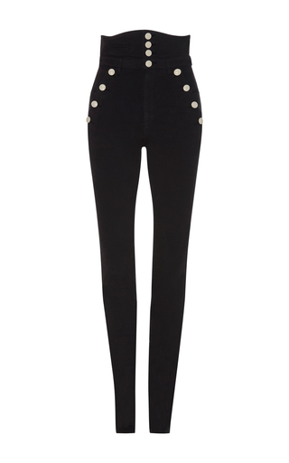 Medium isabel marant black marvin high waist trousers
