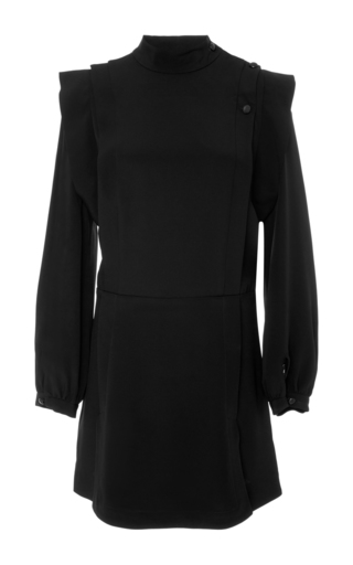 Medium isabel marant black bremen long sleeve mini dress