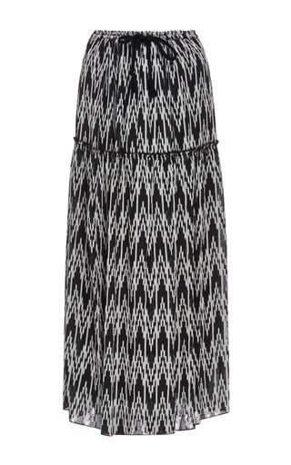 Medium isabel marant black white glenn drawstring maxi skirt