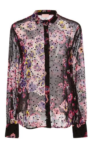 Medium giamba floral sheer silk shirt