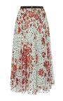 Floral Printed Silk Skirt by GIAMBA Now Available on Moda Operandi